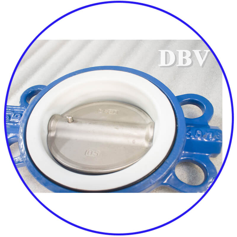 D2 3 Bare Stem GGG40 DN125 PTFE Centerline Wafer Butterfly Valve 20 5