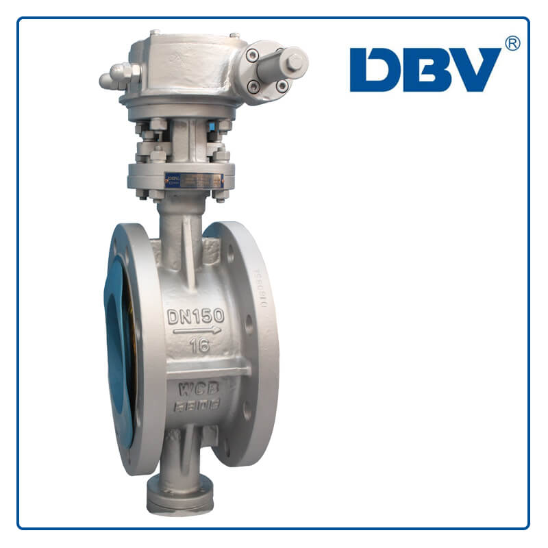 WCB PN16 DN150 Flange triple offset Butterfly Valve