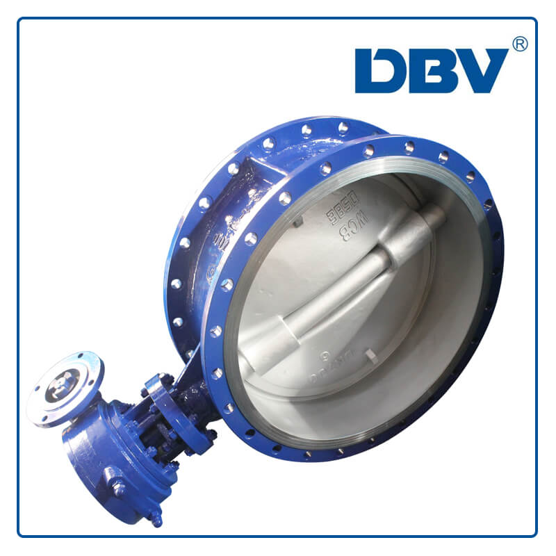 Worm Gear WCB Flange Triple Eccentric Butterfly Valve