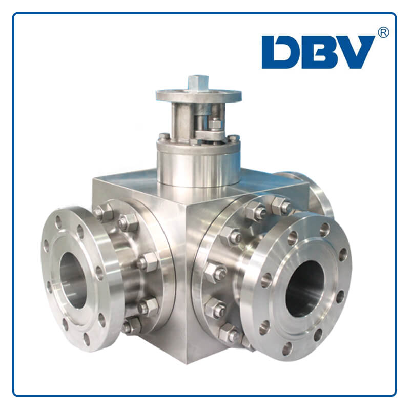 Bareshaft 3 Ways Ball Valve