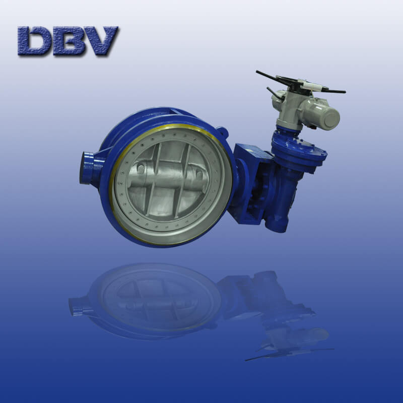 Electric Actuated CL150 Buttwelding WCB Triple Offset Butterfly Valves
