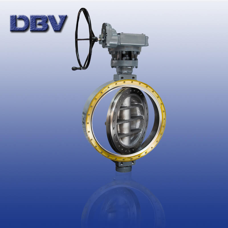 Worm Gear PN10 DN800 Carbon Steel Wafer Butterfly Valve