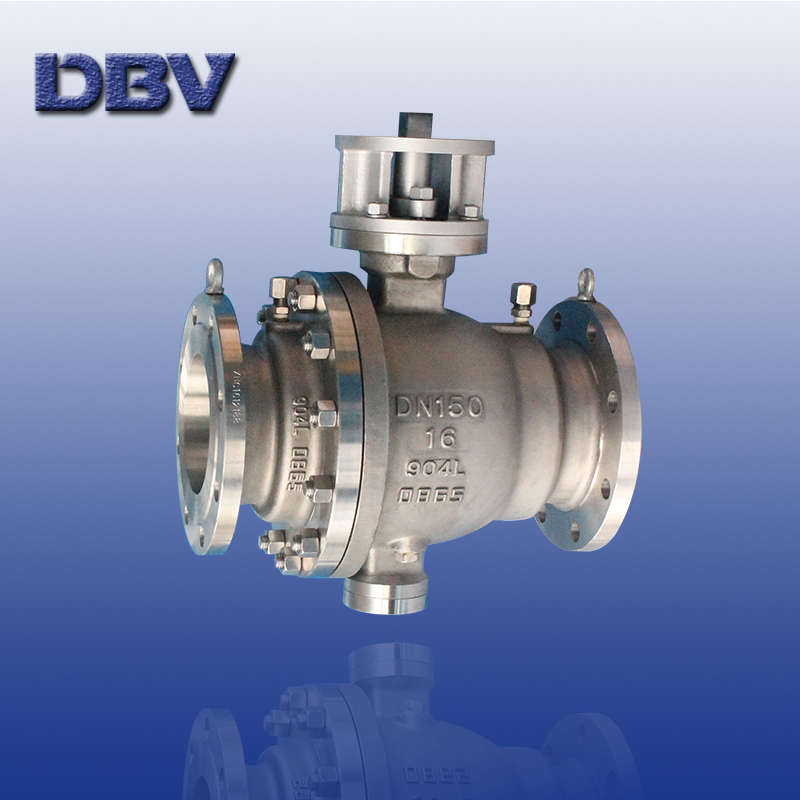 DIN Stainless steel 904L Trunnion/Fixed Full Bore Ball valve