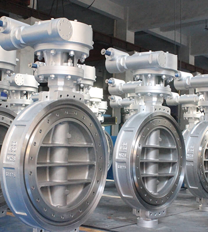 wafer type triple offset butterfly valve