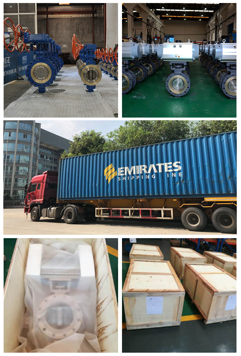 Butterfly valve packing and delivery