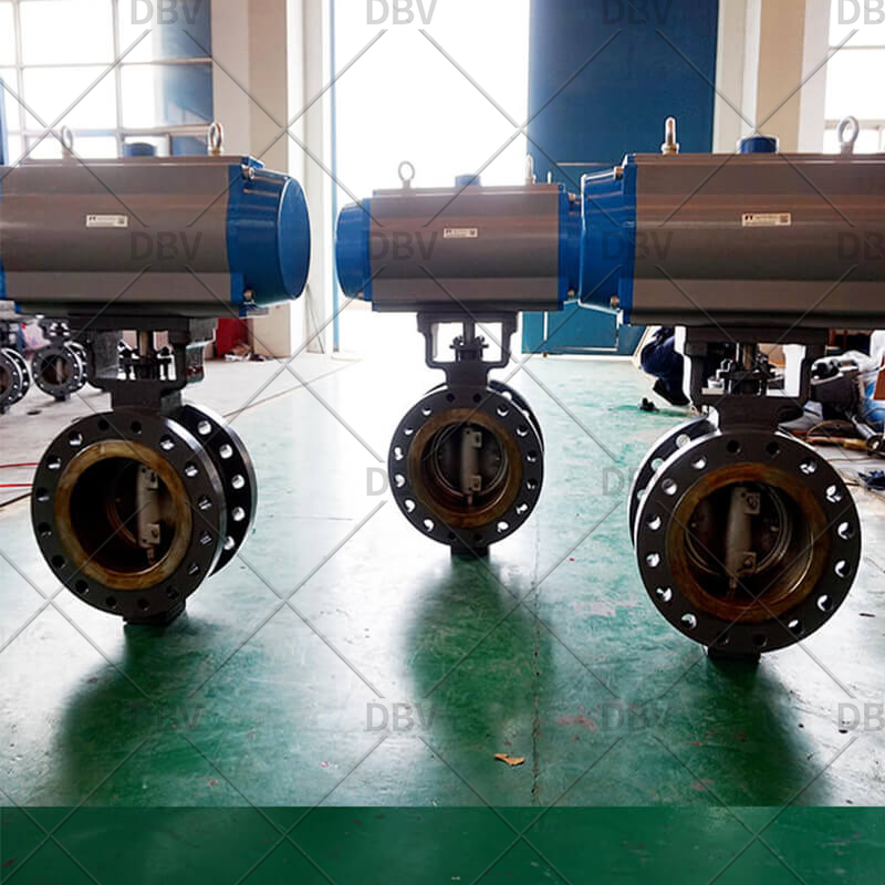 fully metal to metal triple eccentric butterfly valve