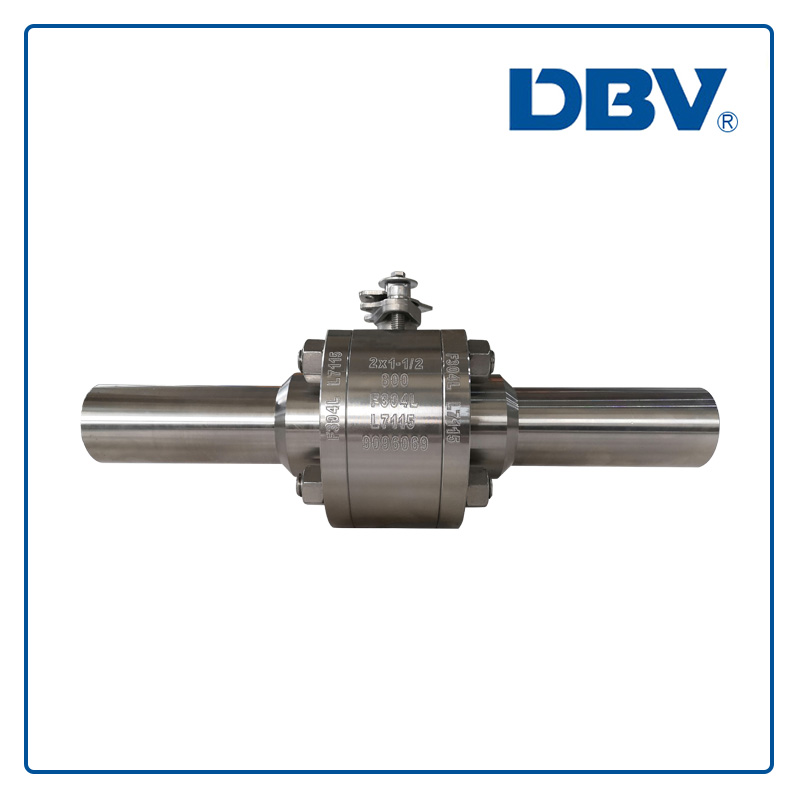 Reduce bore(RB)Floating forged ball valve with stainless steel F304L