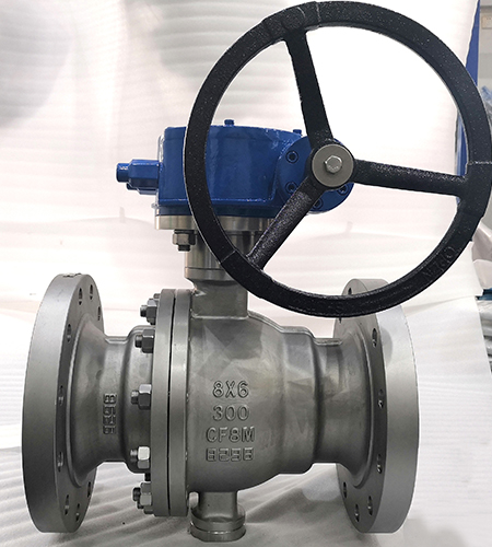 Trunnion mounted stainless steel CF8M Reduce bore Ball valve