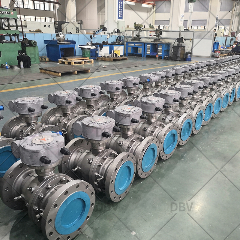 flanged floating ball valve factory