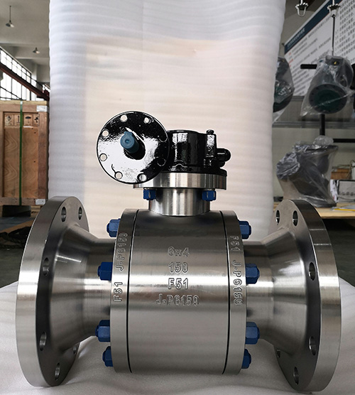 Trnnion mounted ball valve reduce bore