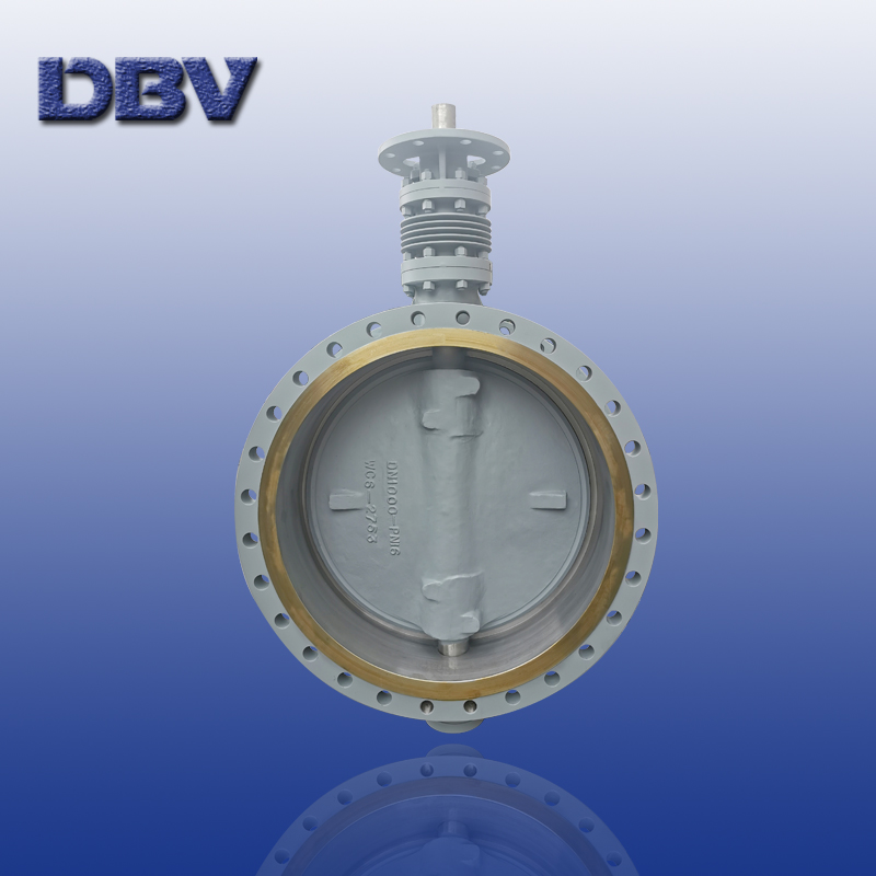 High temperature triple eccentric butterfly valve
